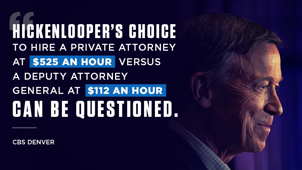 This isn't the first time @Hickenlooper  potentially took money that wasn't his to use, and he's betraying Coloradans by using their money for his own personal use. Colorado deserves better. #COSen  #copolitics   https://denver.cbslocal.com/video/4405759-state-republicans-want-to-audit-fund/  …