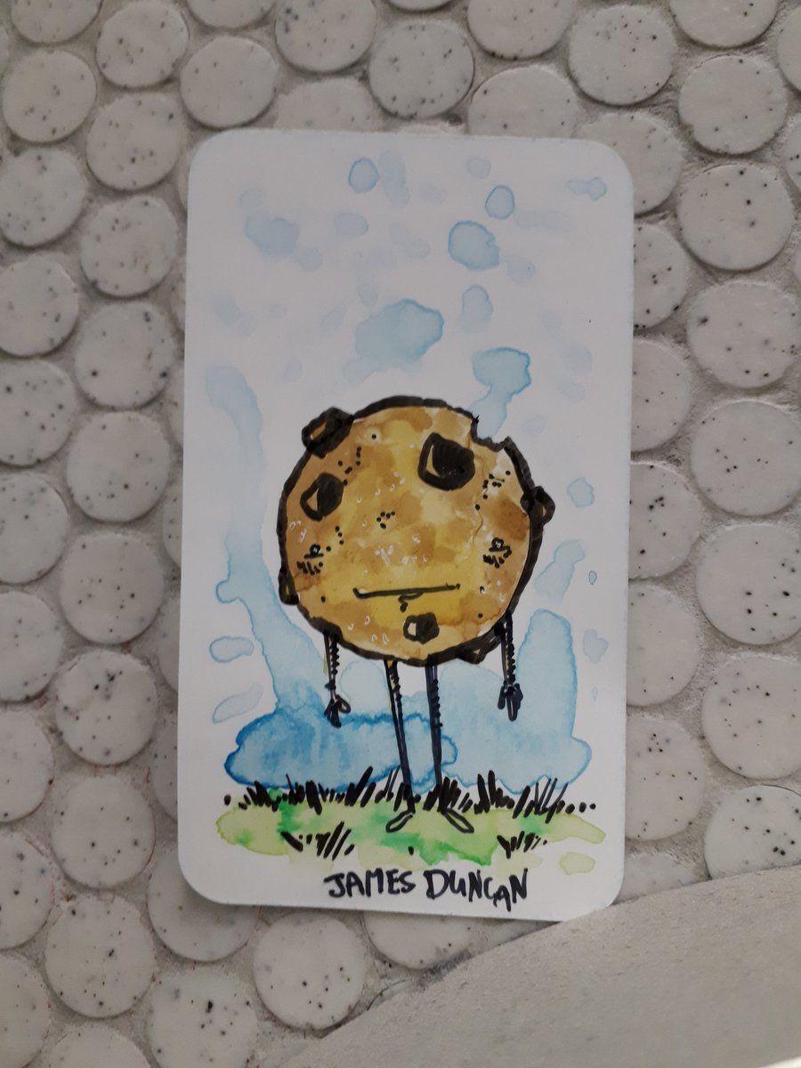 This cookie was left yesterday in the Peel Metro Station... I used a new pen on it... not sure if I like it yet. #eftart #doodle #artdrop
