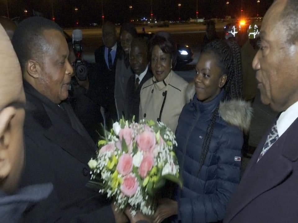 Le Président de la République SEM Denis SASSOU N'GUESSO est arrivé à Berlin, ce 18 janvier 2020, pour prendre part à la conférence sur la Libye. @congosouverain @ThMoungalla @LeonJuste @AlainAkouala @JCongolais @Clovisgld1 @ADIAC_LDB @TV5MONDE @RFI @Maintenezlecap @EmmanuelMacronpic.twitter.com/ezMptg1egL