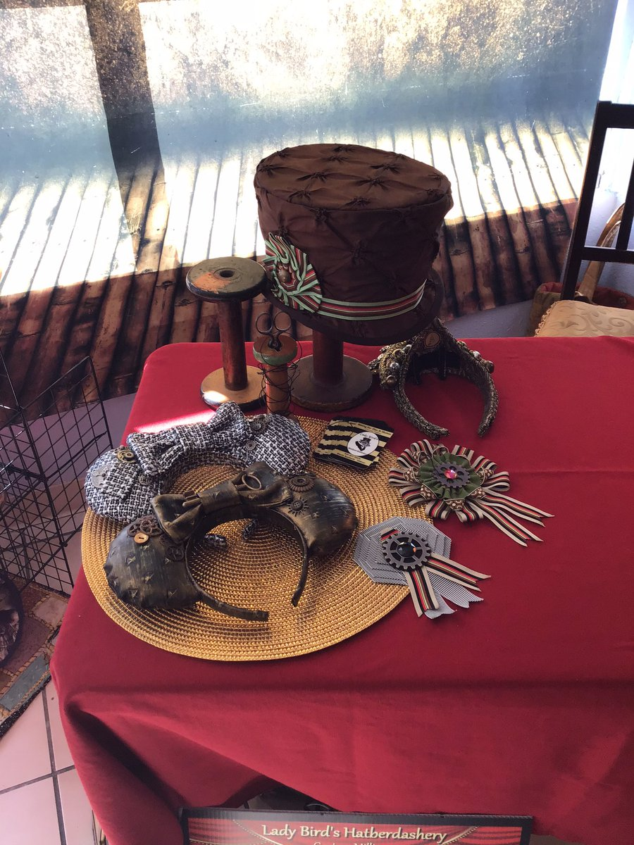 We have some amazing handmade hats and mouse ears being featured today for steampunk craft fair. Come by and see us, 2725 E Colorado Blvd, Pasadena. #craftfair #steampunk #shoppasadena #pasadena