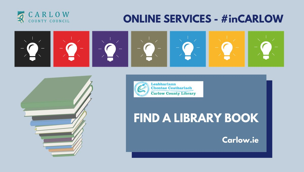 Did you know you can search for a library book online? Just go to the link on the homepage of https://buff.ly/2QX2HUC  or direct to https://buff.ly/2jXHtIH  #Library #Books #Carlow #inCarlow @CarlowLibraries @Community_Hubs @LibrariesIre @LAsIrelandpic.twitter.com/xbSswwBNMT