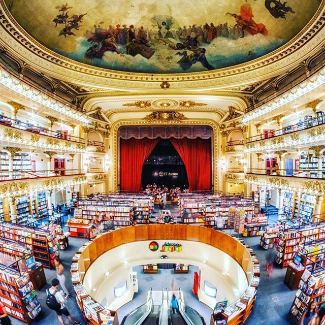 OMG I have to go here. Buenos Aires's El Ateneo Grand Splendid was a gorgeous theater built back in 1919 that was converted into a bookstore! GENUIS!   The most beautiful library I've ever been in is at Trinity College in Dublin. I was in book nerd … https://ift.tt/2sCfMcJ pic.twitter.com/FB6ZhztxMn