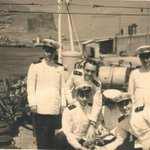 Image for the Tweet beginning: Officers of the Italian destroyer