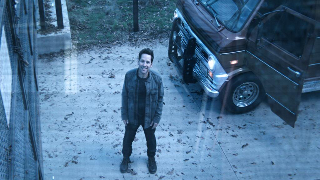 'Hi! Uh, is anyone home? This is Scott Lang. We met a few years ago? At the airport? In Germany? I got really big.'