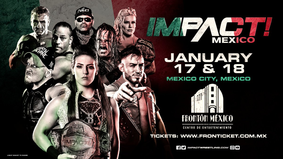 Spoilers For Impact Wrestling TV Tapings From Mexico City (1/18): Title Changes Hands