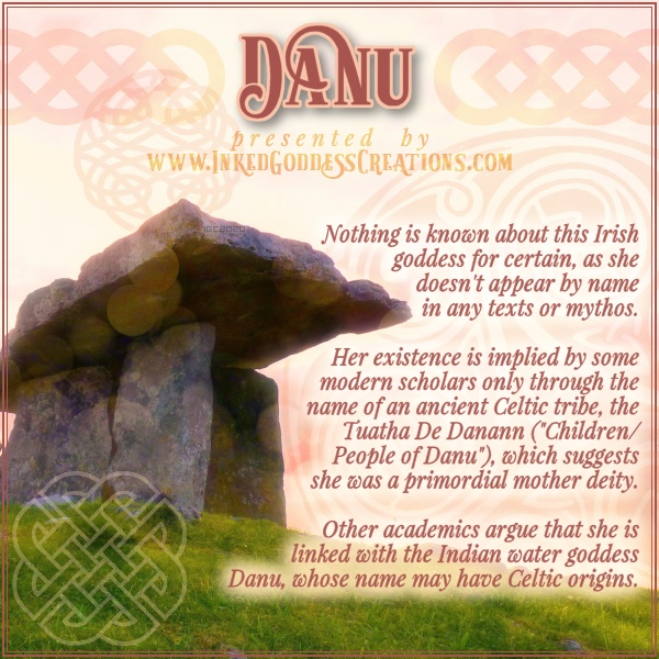 "January 18th is the Celtic Day of Danu!  The mysterious Danu is as deeply embedded in Irish folklore as her ""children"" are: The Tuatha De Danann eventually became known as the Aes Sidhe, the supernatural kingdom of fairy folk.  #divinefeminine #goddess http://bit.ly/3al3hmX pic.twitter.com/xW94JRGsty"
