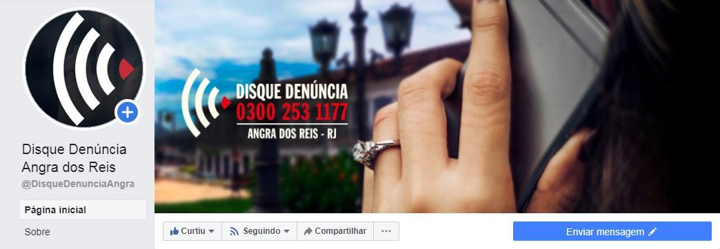 """#disqueDenuncia #angraDosReis no Facebook  Curta a nossa FanPage ; compartilhe e acompanhe o nosso trabalho. Acesse   Precisando, #denuncie  📱 APP """"Disque Denúncia RJ"""" ☎️ 0300 253 1177 / 21 2253 1177  O Anonimato é Garantido #aArmaDoCidadao"""
