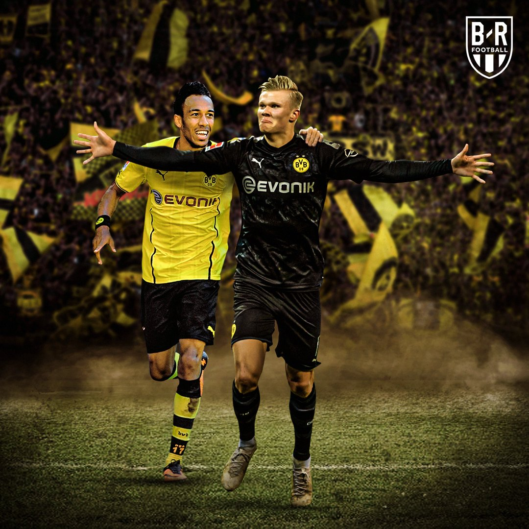 Erling Haaland and @Aubameyang7 are the only Dortmund players to score hat-tricks on their Bundesliga debuts 💛