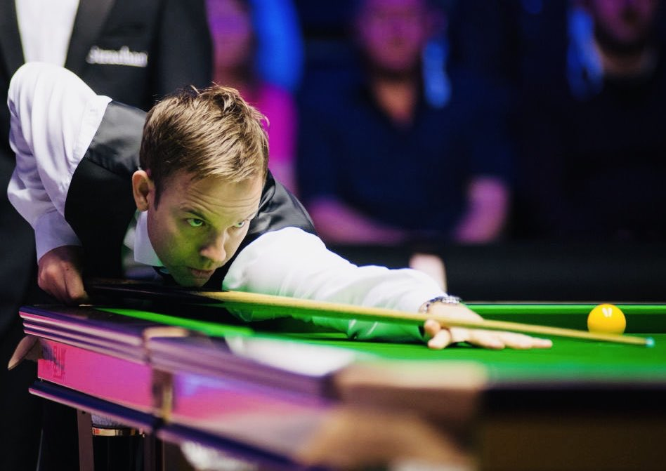 Ali Carter (pic) has just defeated Shaun Murphy 6-3 in their #Snooker #Masters semi-final, & he'll now meet either Stuart Bingham or David Gilbert in tomorrow's final. My money's on Gilbert but in tweeting that I've probably just put a hex on him!😬🥴