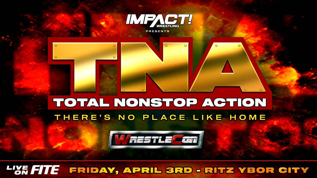 Cross The Line to The New Face of Professional Wrestling one more time. Tickets for TNA: Theres No Place Like Home on April 3rd as part of @wrestlecon in Tampa go on sale Monday at 12pm ET at wrestlecon.com!
