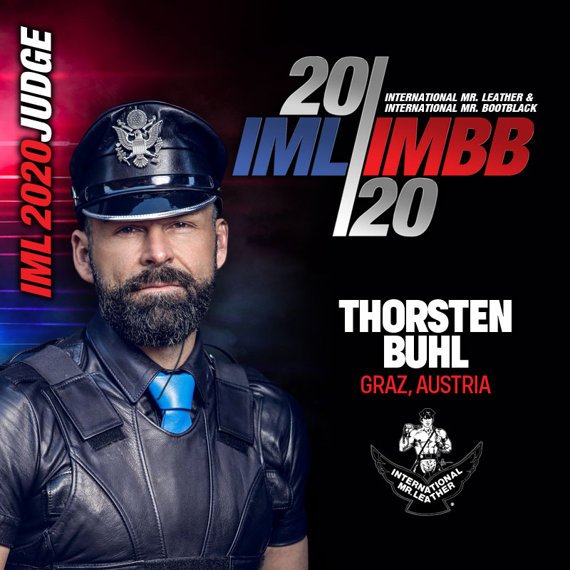 A NATIVE GERMAN, WHO IN ADDITION TO THEIR FETISH VISIBILITY IN PUBLIC AND HIS EFFORT TO INSPIRE OTHERS, SERVES AS AN EMCEE FOR MANY EUROPEAN LEATHER CONTESTS AND IS AN ORGANIZER OF LOCAL FETISH EVENTS. A TOP 20 FINIALIST AT IML 2016.  FROM GRAZ, AUSTRIA  THORSTEN BUHL pic.twitter.com/upNaj3hqo8