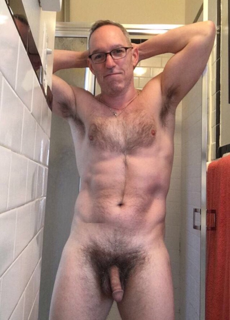 Sexy Businessman Naked In Locker Room After Gym Workout