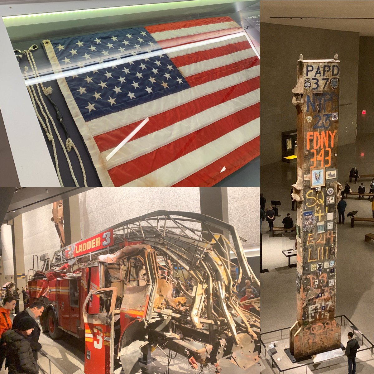 A very moving visit to the #911memorial museum. My thoughts brought to my amazing former coworkers at @FDNY and @NYPDnews - thanks to all those who responded, those who died and those who continue to protect the city.