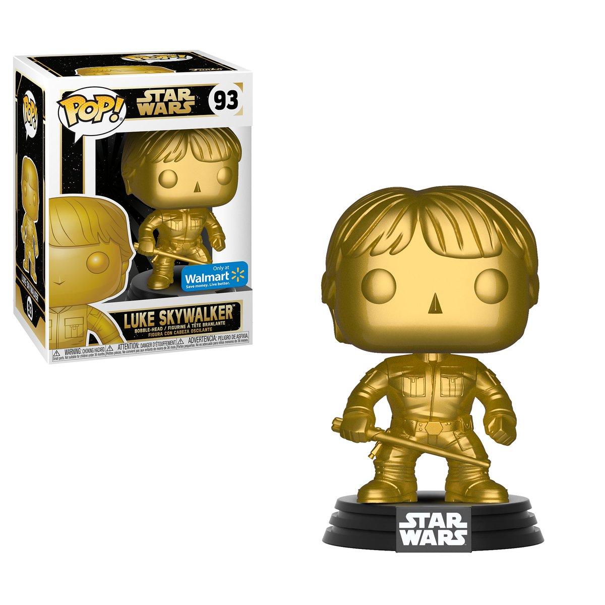 RT & follow @OriginalFunko for a chance to WIN a @walmart exclusive Gold Luke Skywalker Pop! #Funko #FunkoPop #Giveaway #pop #exclusive #starwars #LukeSkywalker