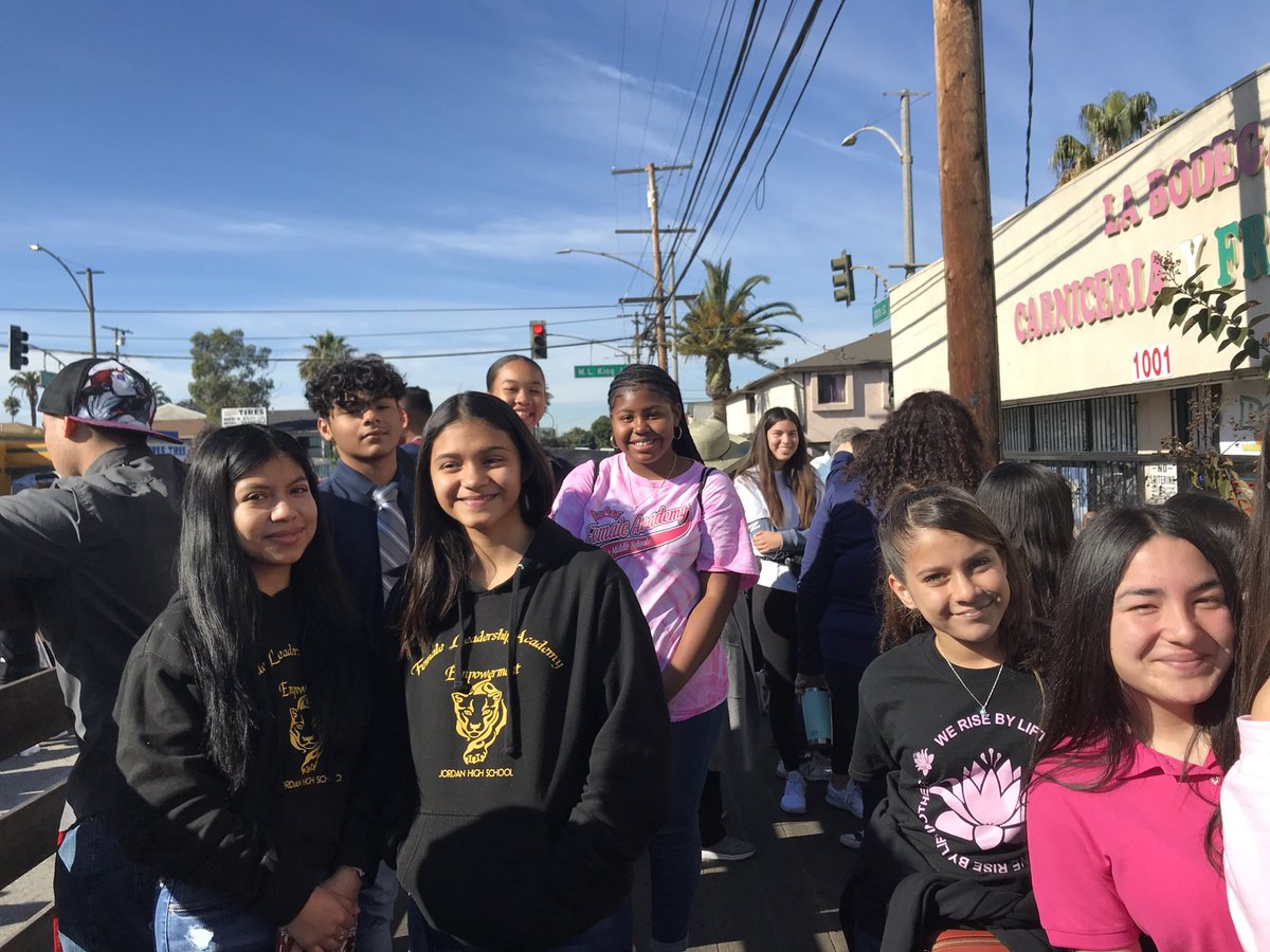 It is a great day for the Dr. King Unity Parade! LBUSD Male and Female Leadership Ss are riding in the parade with the LBUSD Board of Education members. #ProudtobeLBUSD
