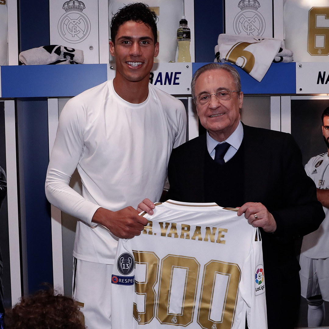 Raphael Varane sudah 300 penampilan di Real Madrid