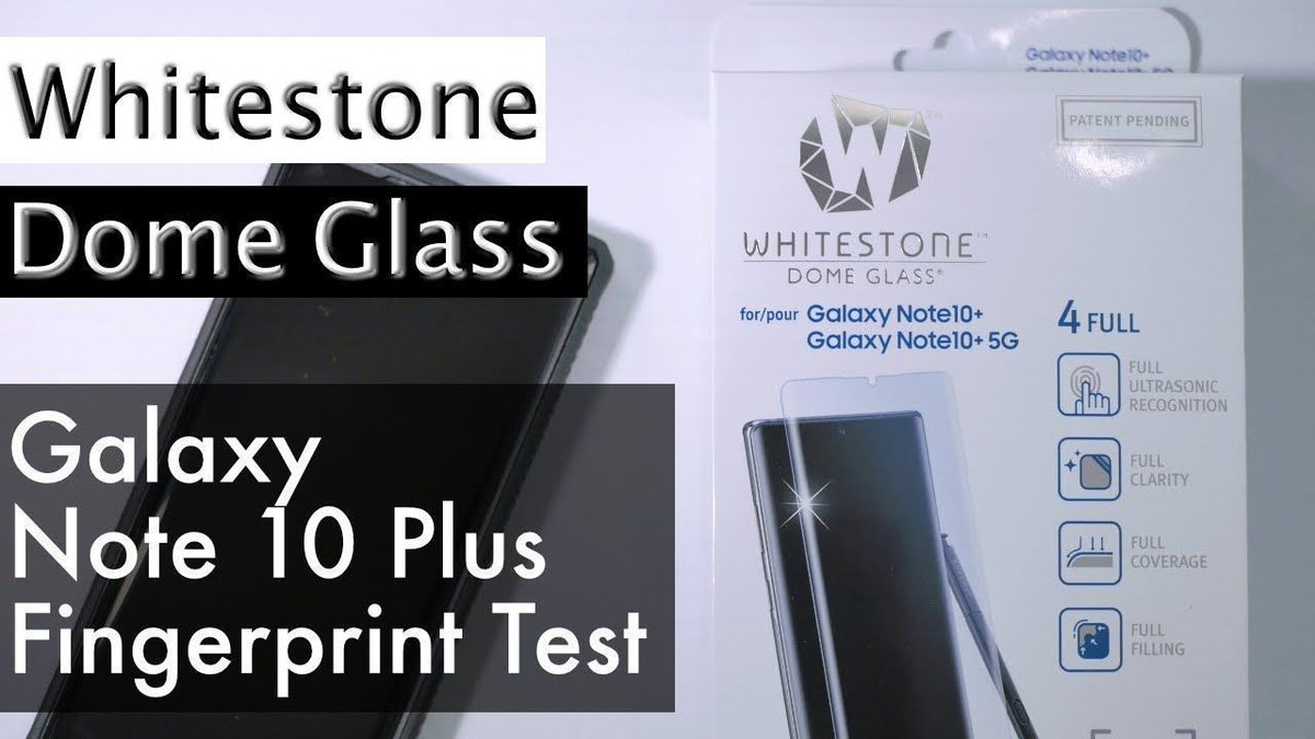Whitestone Dome Galaxy Note 10 Plus Fingerprint Reader Test https://buff.ly/2zpgWs4 via @YouTube #WhitestoneDomeGlass   Protect #GalaxyNote10 #Note10Plus with the best protection!  http://WHITESTONEDOME.COMpic.twitter.com/ib5R7k1PwG