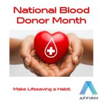 Image for the Tweet beginning: January is National Blood Donor