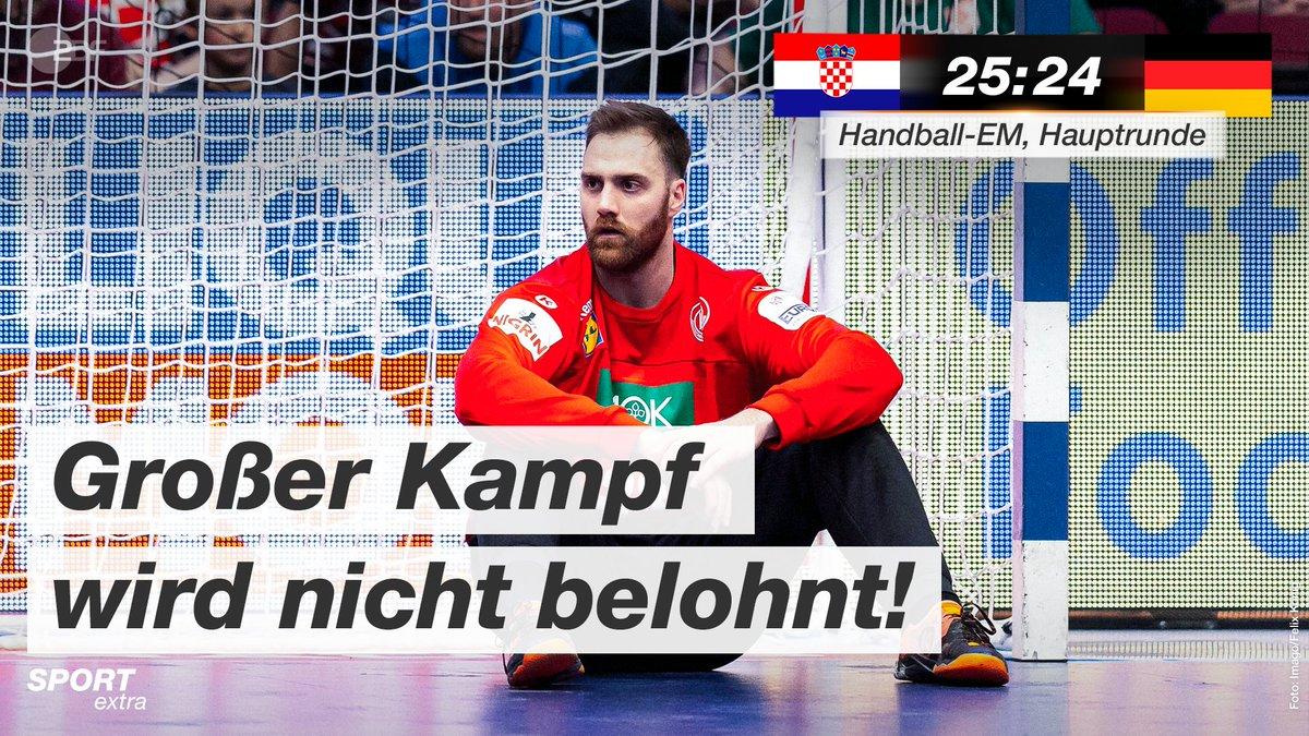 Sieg vertan! 😔 Deutschland vergibt die Führung gegen Kroatien und kann jetzt nicht mehr aus eigener Kraft ins Halbfinale einziehen. @DHB_Teams @EHFEURO #Handball #EHFEURO2020 #CROGER