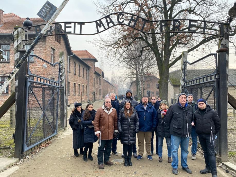 The honor of a lifetime to spend the day with a delegation from the New York State Legislature and City Council visiting Auschwitz and Birkenau in advance of next weeks 75th Anniversary of it's liberation and meeting with Holocaust survivors at the JCC of Krakow. #NeverForget <br>http://pic.twitter.com/h76B1kEjbD