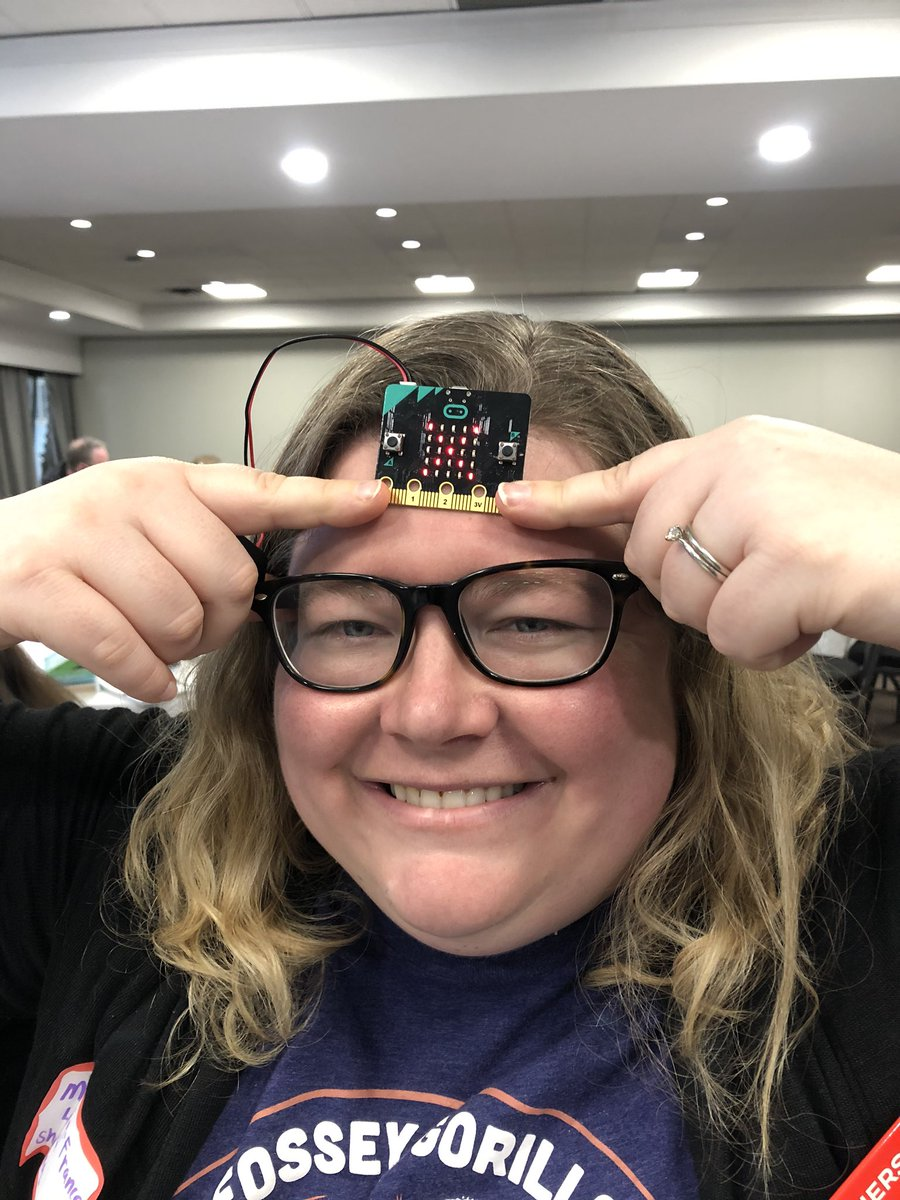 @mflague checking her temperature with our @microbit_edu creation. #CodeCreateTeach