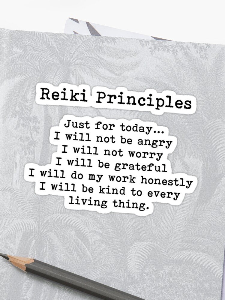 Reviewed these during Yoga class this morning - good to practice daily! #reiki