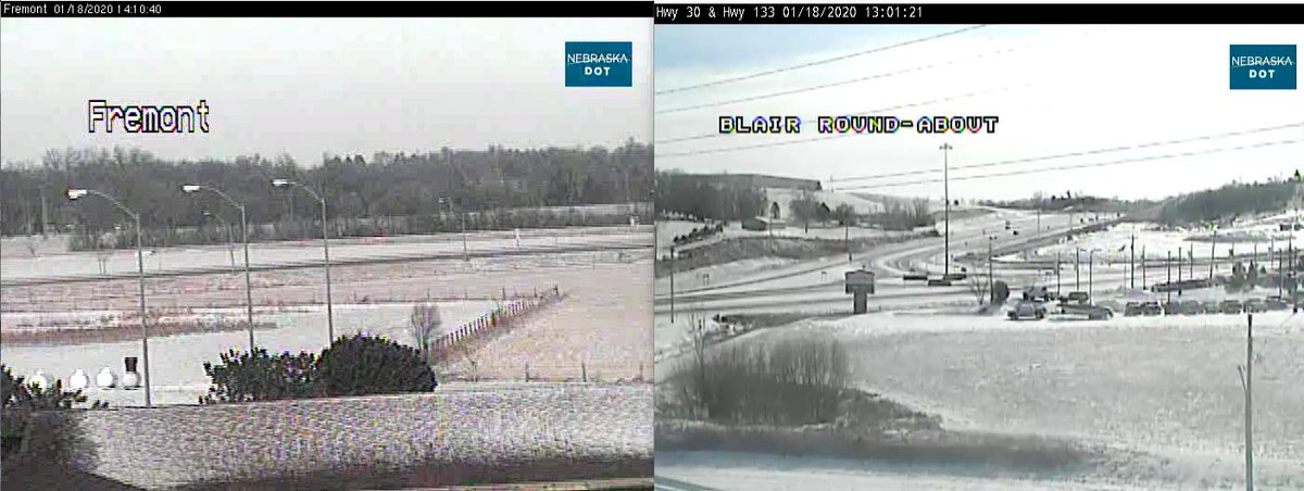 Image posted in Tweet made by Omaha Hwy Conditions on January 18, 2020, 7:08 pm UTC
