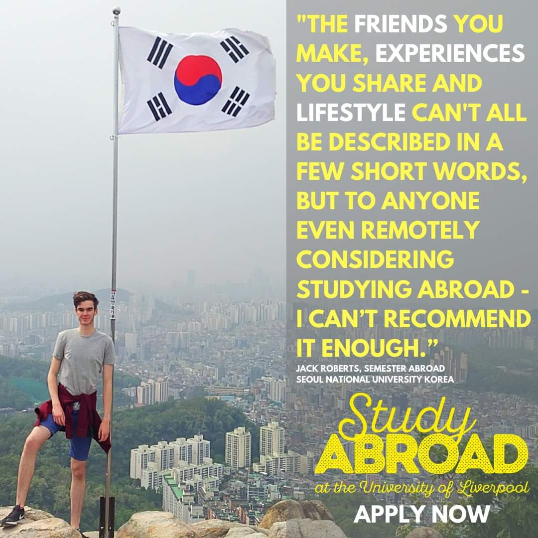 #StudyAbroad is your chance to see the world, discover amazing new cultures and make lifelong friends from across the globe!  Applications for the Semester Abroad and Year in China close on Sunday 16 February.  http://bit.ly/studyabroadapplynow…   #LivUniStudyAbroad @livuniabroadpic.twitter.com/JvgdLSuuaV