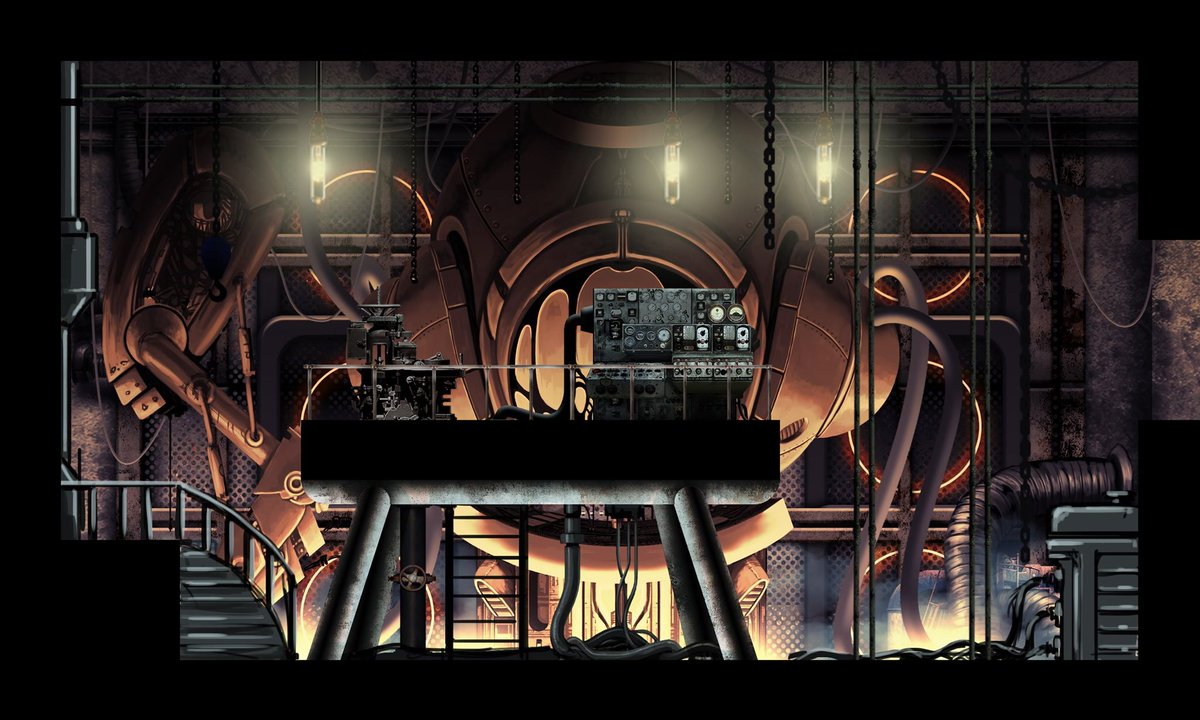For this #screenshotsaturday, let's enjoy a moment of calm with a peaceful #Steampunk room before venturing further into the #meat storm. #indiegame #gamedev #indiedev #metroidvania #steamdolls