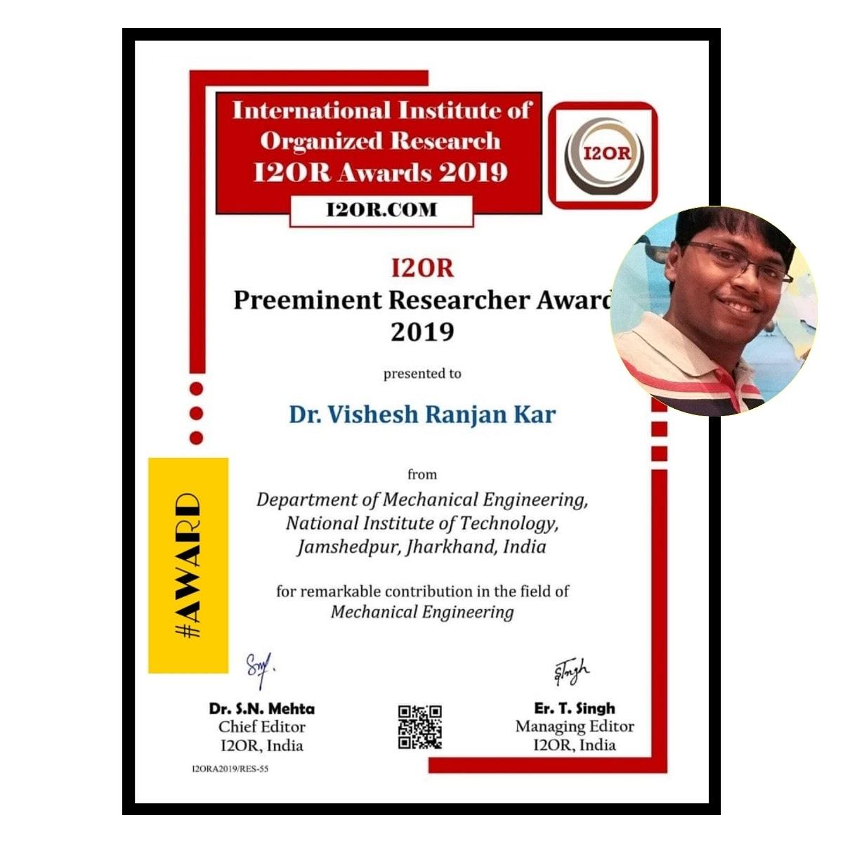 Congrats Dr. Vishesh Ranjan Kar pic.twitter.com/m7KTEJqXnq – at NIT Jamshedpur Library