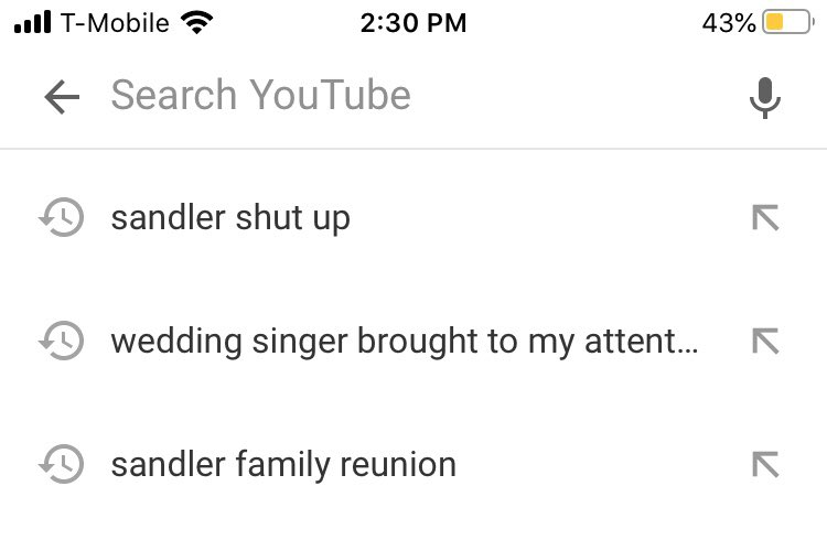 youtube searches pre-being a dad and post-being a dad