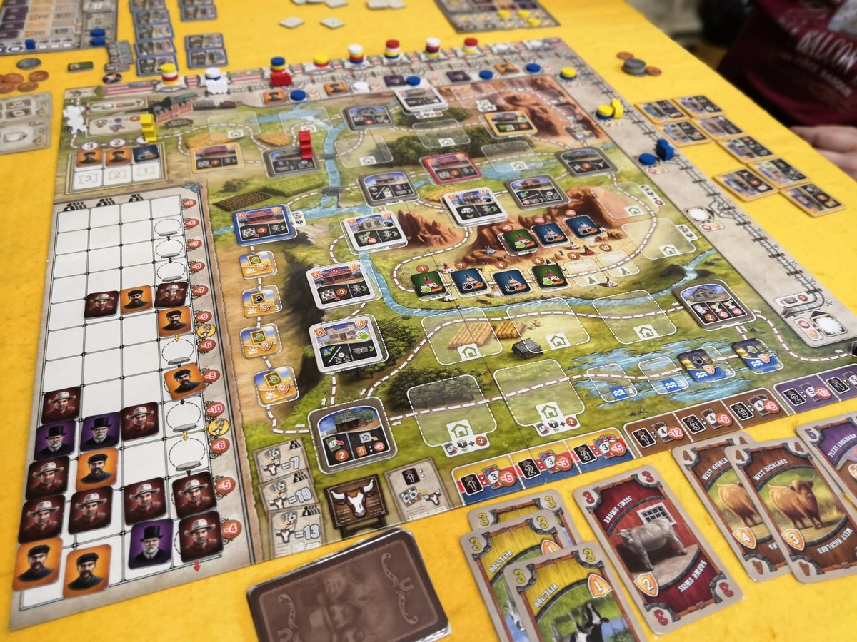 25th play of #GreatWesternTrail. Really like this pure gem. I need to play #Maracaibo ASAP to figure out how it feels. #j2s #boardgamespic.twitter.com/SMYyKc0H0q