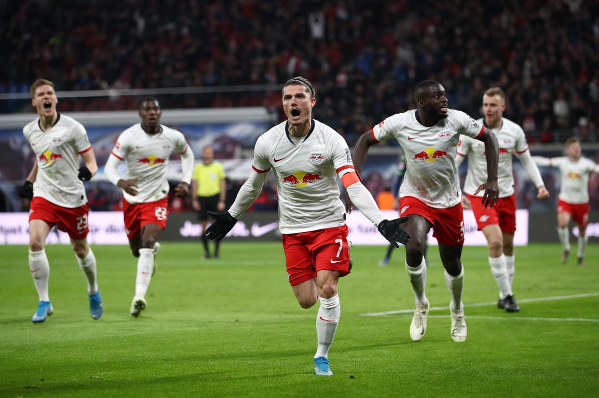 Leipzig score three goals or more for a ninth Bundesliga game in a row - a new record!    #UCL
