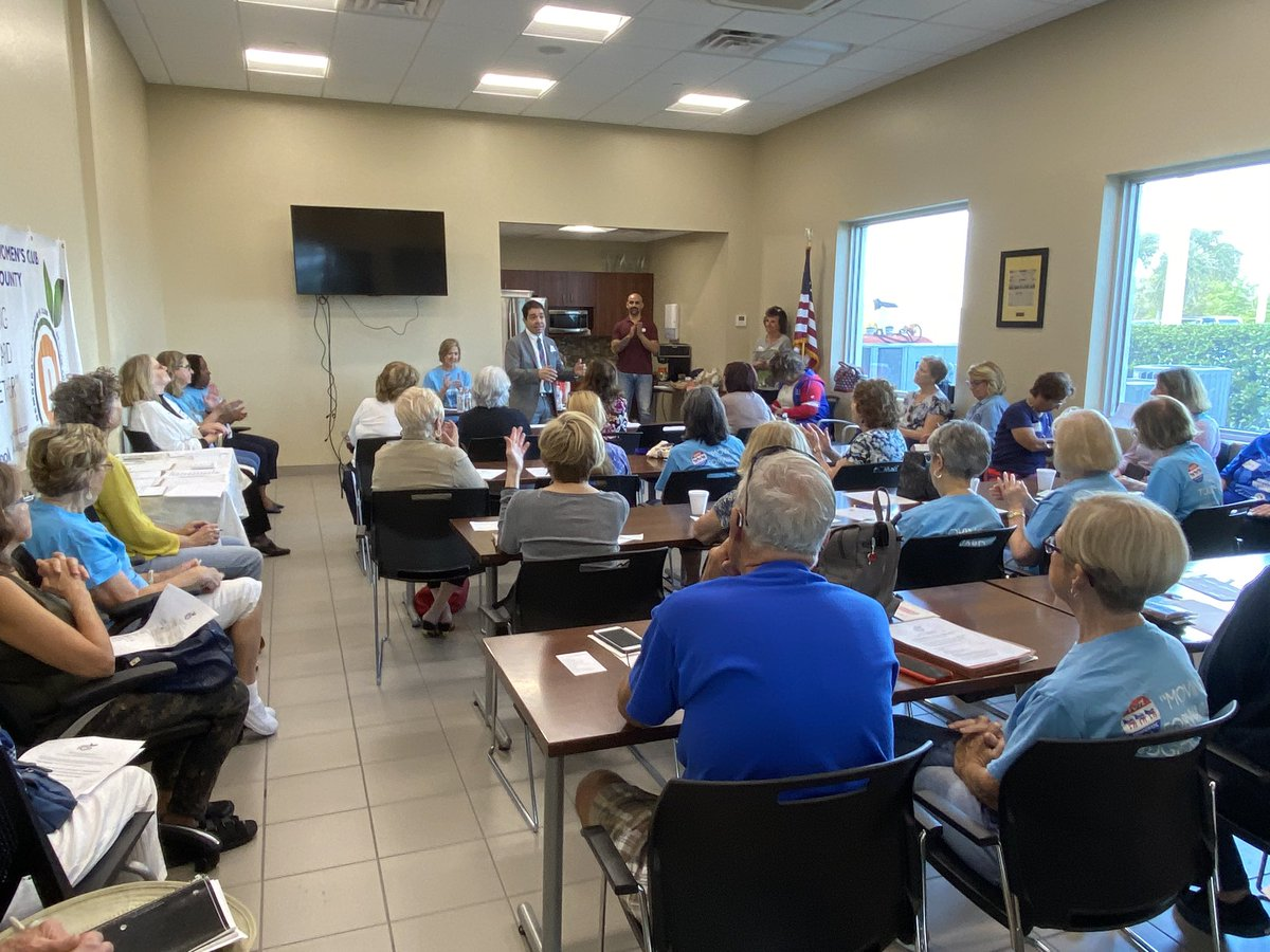 Lots of energy with the Democratic Women's Club of St. Lucie County today! #FL18