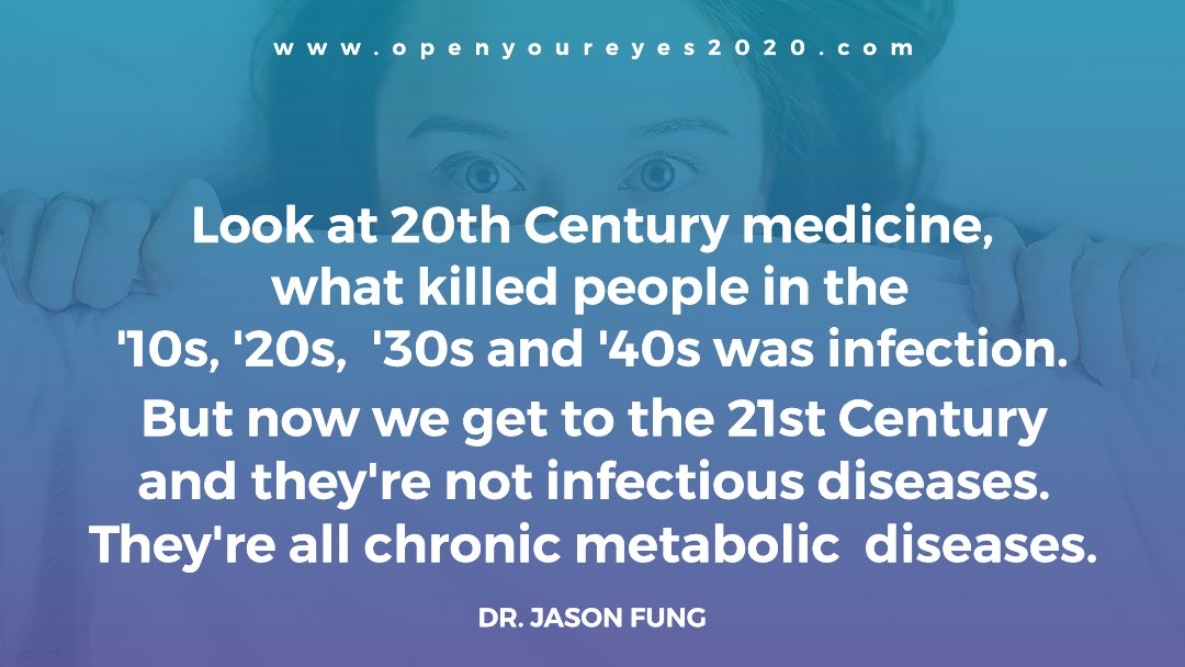 """Quote by @drjasonfung in the upcoming film, """"Open Your Eyes""""   http:// openyoureyes2020.com       #HealthyLiving <br>http://pic.twitter.com/erY1dhwyVd"""
