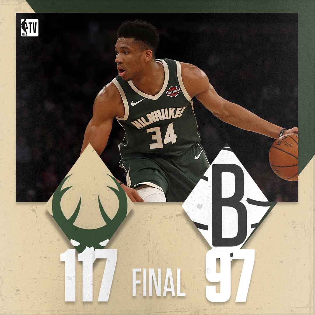 The Bucks put in a complete performance to notch their 6th-straight W!  🦌