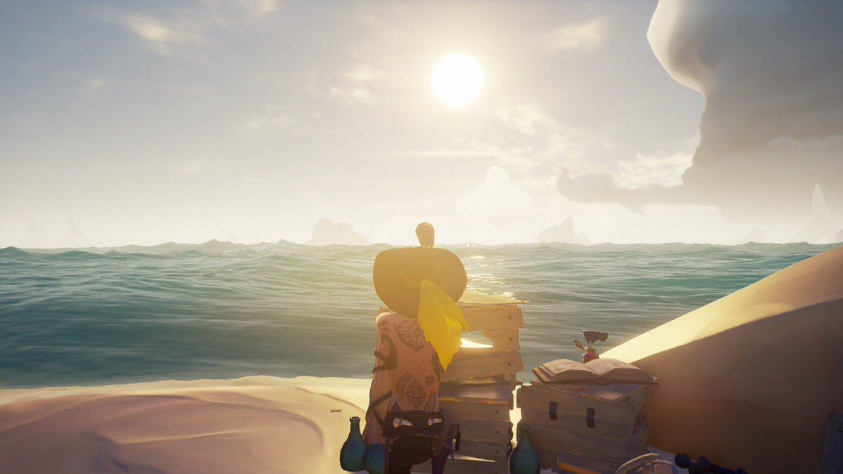 "Random shots from today's voyage titled ""why you got to be mean?"" #SeaOfThieves #BeMorePirate #SoTShot @SeaOfThieves @TheAaronLeigh @DiabloOb @ThirstySeas"