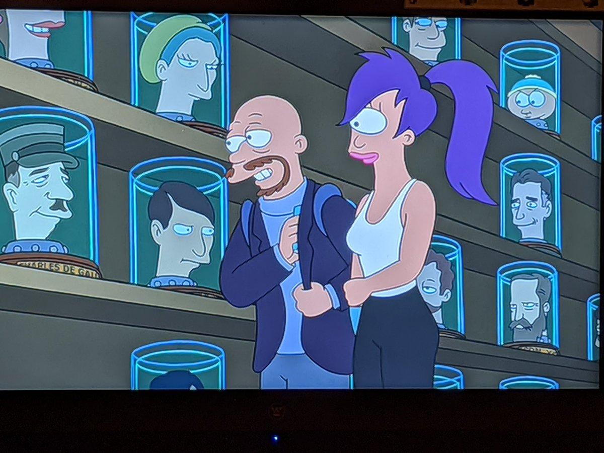 That's Jon Stewart underneath Cartman in the Head Museum