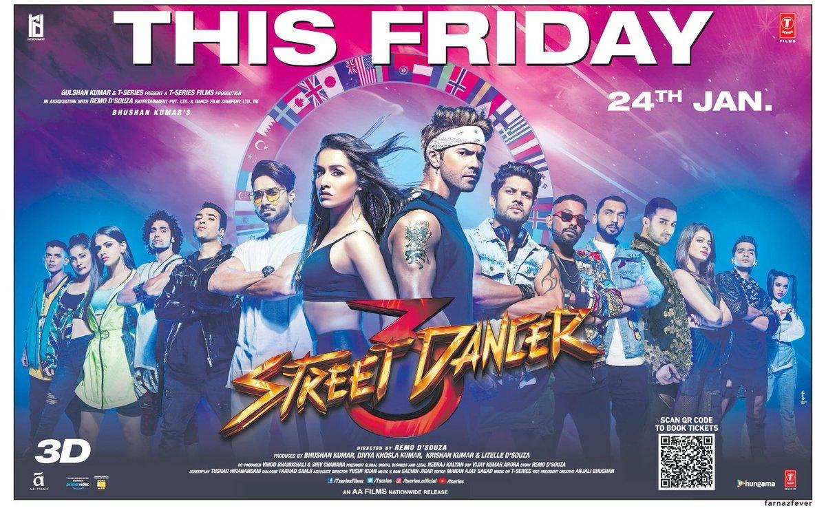 #StreetDancer3D This Friday!@Varun_dvn @ShraddhaKapoor @remodsouza @streetdancer_pic.twitter.com/5m7xMnqsk4