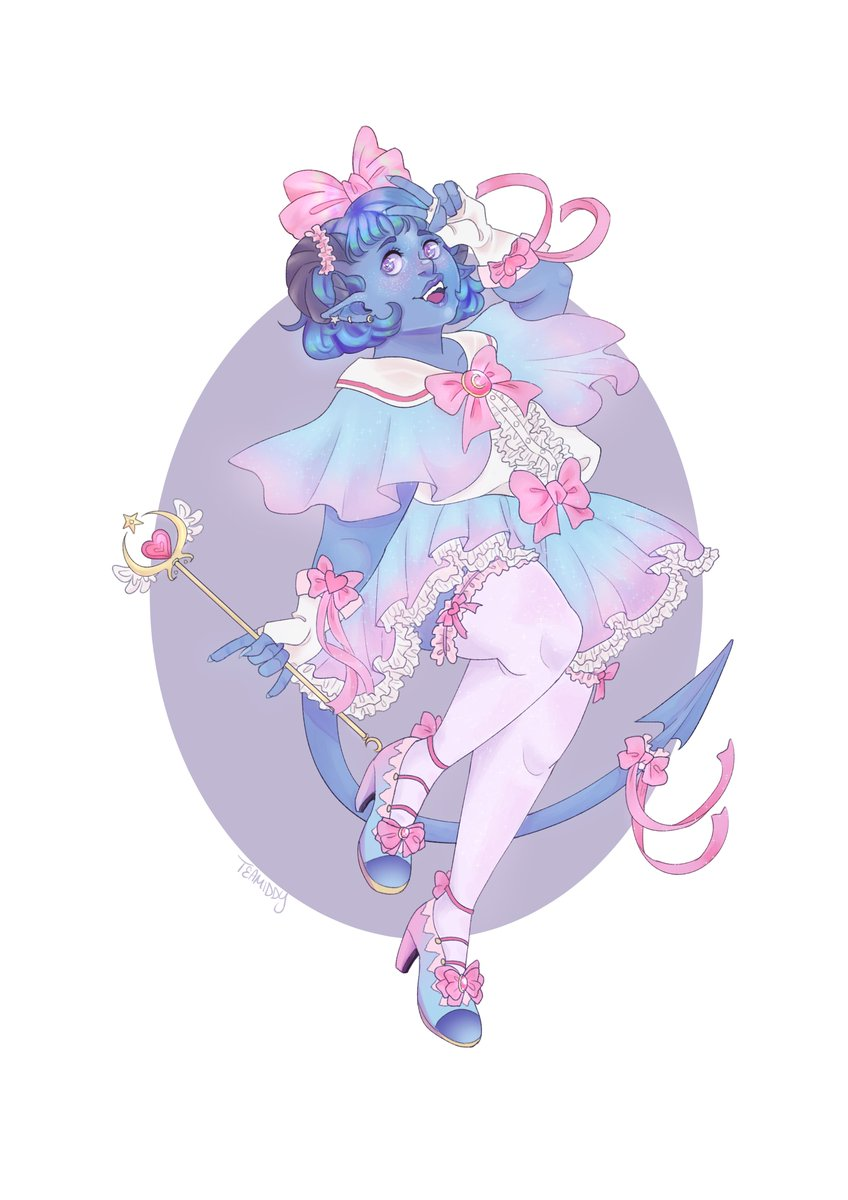#CriticalRole #criticalrolefanart jester is the best magical girl <br>http://pic.twitter.com/mduXW2GPGD