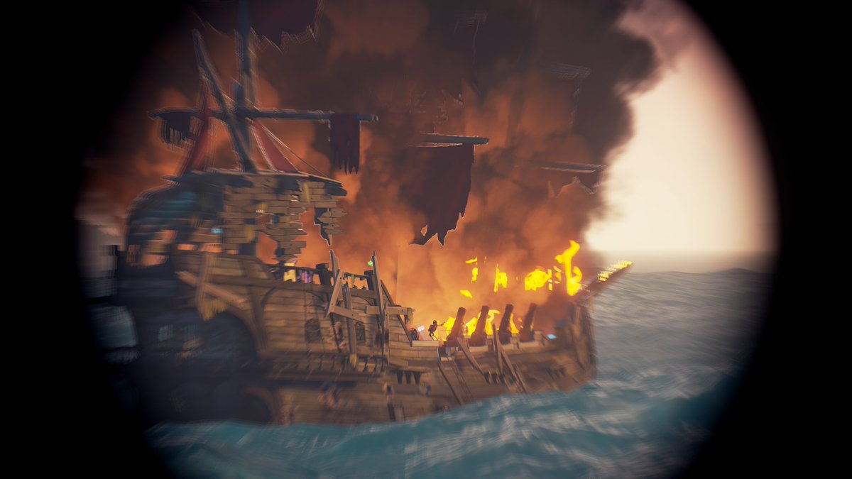 The state this Skelly ship is in makes me so happy to see.   I will never forget the first day we saw them rise up from the @SeaOfThieves  Look how much this has evolved. Thank you @RareLtd #SotShot #Spyglass 🔥