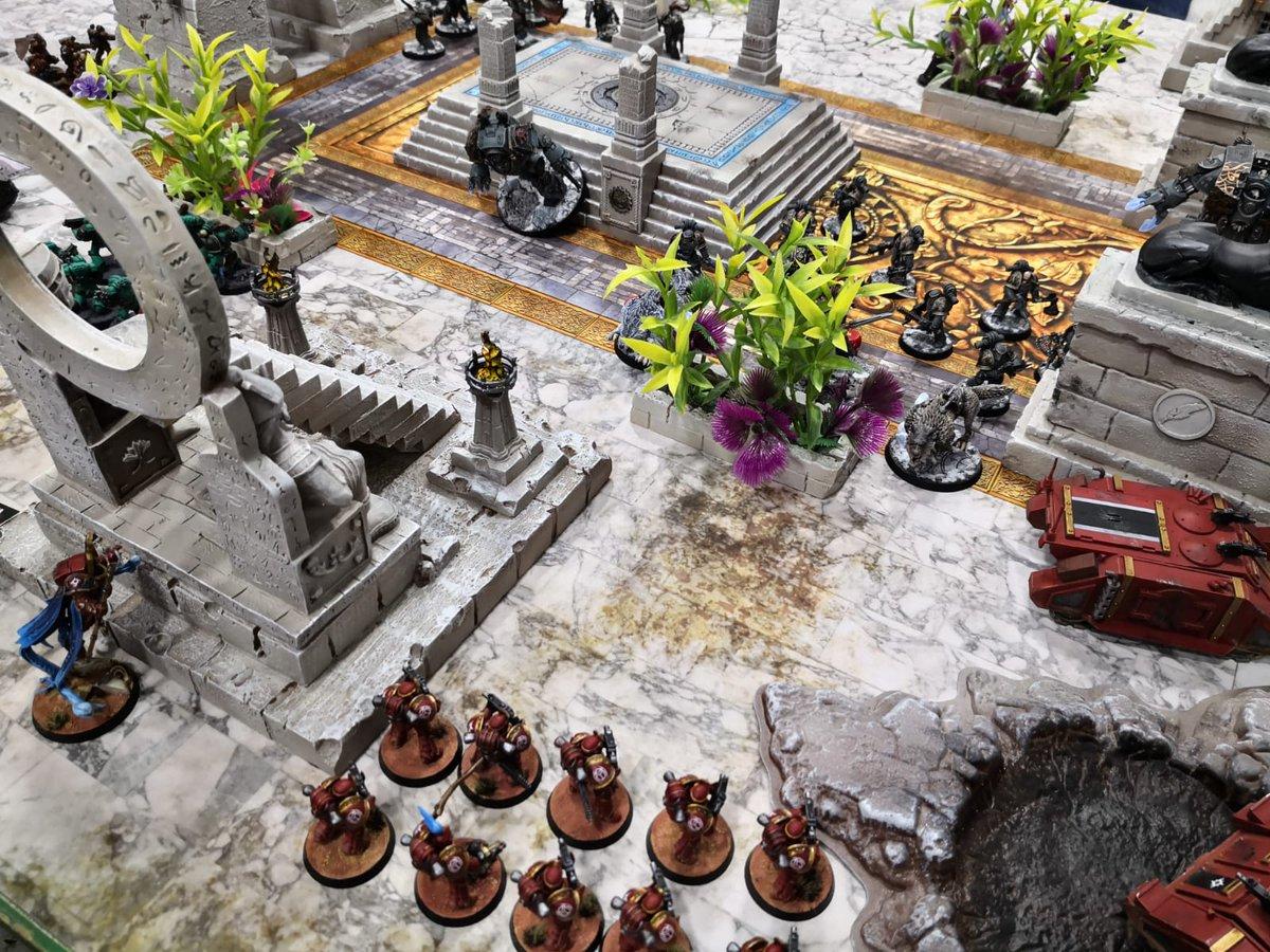 Campaña Próspero en Llamas. Ejércitos: Lobos Espaciales y Hermanas del Silencio vs Hijos de Horus y Mil Hijos. @GamesWorkshopEs #TheHorusHeresy #BurningOfProspero #warhammer30000 #w30k #gamesworkshop #forgeworld #wargames #wargaming #warhammer40k #warhammerpic.twitter.com/b6pzPTqArH