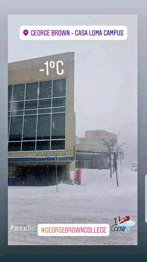 #georgebrowncollege #snowstorm #Toronto #BeautifulBuilding @GBCollegepic.twitter.com/ures5dAB9M