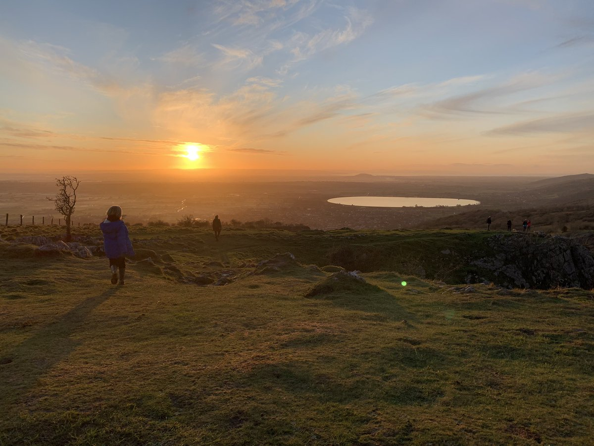 Beautiful sunset over the Somerset levels tonight