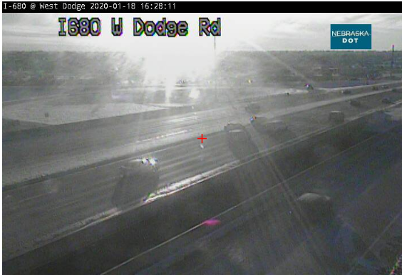 Image posted in Tweet made by Omaha Hwy Conditions on January 18, 2020, 10:31 pm UTC
