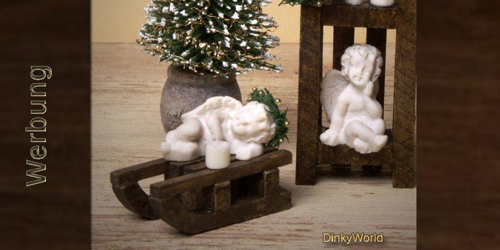 Niedliches Miniatur-Engelchen auf Schlitten fürs Puppenhaus https://etsy.me/2spXIlR #christmaspic.twitter.com/zL1PdKzZ3S
