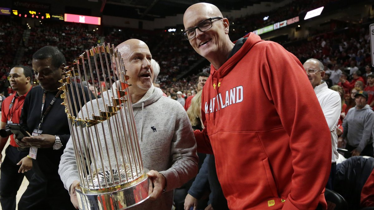 Cant spell Undisputed chaMpions of the worlD without UMD and a #CurlyW. Big thanks to @umterps for hosting World Series Champion General Manager and President of Baseball Operations Mike Rizzo this afternoon. #FearTheTurtle // #FIGHTFINISHED