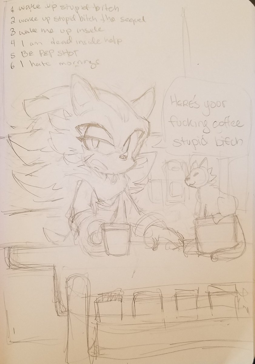 Coffeeshop AU with grandpa Red <br>http://pic.twitter.com/kFNXAaluiN
