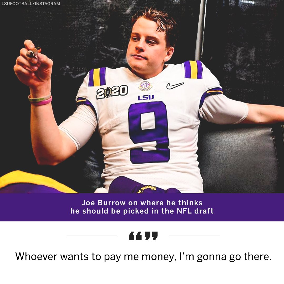 Joe Burrow Has Blunt Response When Asked Where He Wants To Be Drafted