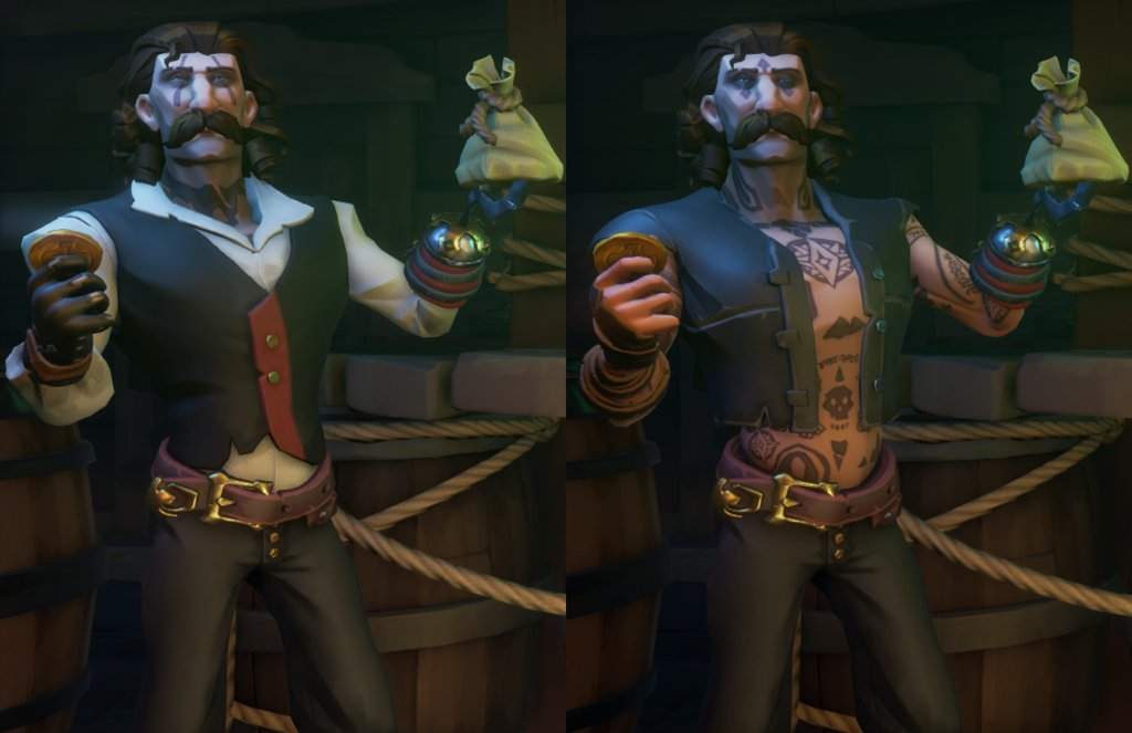 """Left or right? Any suggestions?"" posted by u/TutBuck in r/SeaOfFashion  #SeaOfFashion #BeMorePirate #SoTShot #SeaOfThieves"